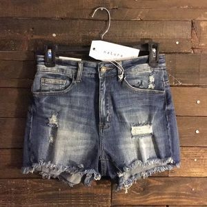 High Rise Distressed Shorts - NWT 🌟